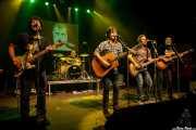 Pit Idoyaga -guitarrista-, Iñigo Gil -baterista-, Txomin Guzmán -cantante y guitarrista-, Juan Uribe -bajista- y Alfredo Niharra -guitarrista- de The Fakeband (06/09/2014)