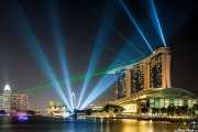 Espectáculo de luces en Marina Bay Sands (Moshe Safdie, 2010) (15/09/2014)