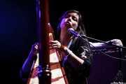 Sarah Page, arpista y guitarrista de The Barr Brothers, Bilbao Exhibition Centre (BEC). 2014