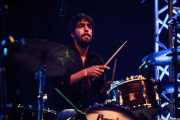 Lete G. Moreno, baterista de Angel Stanich Band, Bilbao Exhibition Centre (BEC). 2014