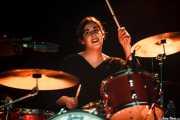 Virginia Fernández, baterista de Last Fair Deal, Ficoba. 2014