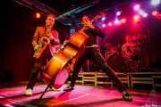 Dani Nel·lo -saxofonista-, Ivan Kovacevic -contrabajista- y Anton Jarl -baterista- de Los Mambo Jambo, Purple Weekend Festival. 2014