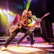 Dani Nel·lo -saxofonista- y Mario Cobo -guitarrista- de Los Mambo Jambo, Purple Weekend Festival. 2014