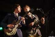 Jerry Coma y Jay Le Saux, guitaristas y cantantes de The Mergers, Purple Weekend Festival. 2014
