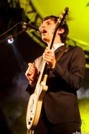 Jerry Coma, guitarrista y cantante de The Mergers, Purple Weekend Festival. 2014