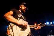 Niko Somethingski, banjista, percusionista y cantante de The Freeborn Brothers, CAEM - Sala B. 2014