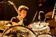 Lander Zalakain, baterista de Belako, Kafe Antzokia. 2014