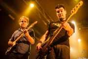 Javi de Hustler -guitarrista- y Albert Hustler -bajista- de Screaming George & The Hustlers, Santana 27. 2014