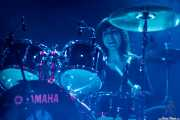 Ilargi Agirre, baterista de Screaming George & The Hustlers, Santana 27. 2014