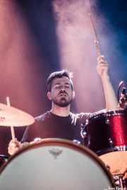 Sergio García, baterista de Highlights, Bilbao. 2015