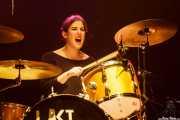 Virgina Fernández, baterista de Last Fair Deal, Bilbao. 2015