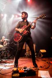 Iñigo Ortiz de Zárate -guitarrista y teclista- y Zigor Akixo -baterista- de The Allnighters, Bilbao. 2015