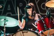 Belinda, baterista de Les Ton Ton Macoutes, Sala Caracol, Madrid. 2015