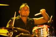 Brigi Duke, baterista de El Drogas, Kafe Antzokia, Bilbao. 2015