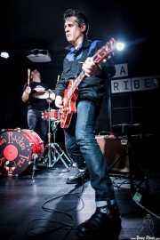 Luigi Stream -voz y guitarra- y Ricky -batería- de Speed on Rockin' Trio, La Ribera, Bilbao. 2015