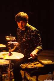 Felix Buff, baterista y percusionista de Joseba Irazoki eta lagunak, Kafe Antzokia, Bilbao. 2015