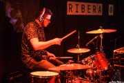 Esteban Gaviria, baterista de Jesucrista, La Ribera, Bilbao. 2015