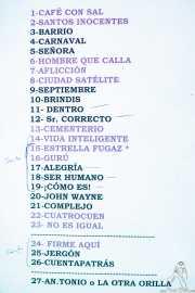 Setlist de Los Enemigos, Kafe Antzokia, Bilbao. 2015