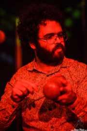 Sergio Alarcón, guitarrista, teclista y percusionista de The Limboos, Kafe Antzokia, Bilbao. 2015