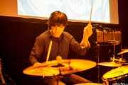Feliz Buff, baterista de Joseba B. Lenoir Gang, Hika Ateneo, Bilbao. 2015