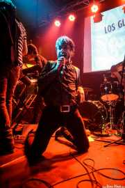 """Cuate Sticky Bones -bajo-,Suso """"Screaming Sideburns"""" -voz-, Thee ? Boy -teclado- y Charlie Stu -batería- de Los Glurps!!, Fuzz in the city 2015, Bilbao. 2015"""