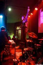 """Thee ? Boy -teclado- y Suso """"Screaming Sideburns"""" -voz- de Los Glurps!!, Fuzz in the city 2015, Bilbao. 2015"""