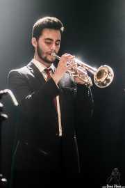 Bruno Rocha, trompetista de TT Syndicate, Kafe Antzokia, Bilbao. 2015