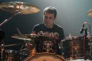 David Aranda, baterista de The Wizards, Kafe Antzokia, Bilbao. 2015