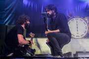 Gorka Arbizu -guitarra y voz-, David González -bajo- y Galder Izagirre -batería- de Berri Txarrak, Santana 27, Bilbao. 2015