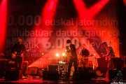 Ager Insunza -voz, guitarra, violón, pedal steel guitar y teclado- y Gaizka Insunza -voz, piano, guitarra y saxofón-, Mikel Sagarna -batería-, Andoni Lauzirika -bajo- y Hannot Mintegia -guitarra, voz y trompeta- de Audience, Social Antzokia, Basauri. 2015