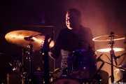 Natxo Beltrán, baterista de Mike Farris, Social Antzokia, Basauri. 2015