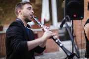 Juli Aymi, clarinetista y saxofonista de Doc Scanlon's Swingsters, Gastroswing 2015 - RAL Club, Murgía. 2015