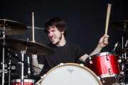 Sergio García, baterista de Highlights, Azkena Rock Festival, Vitoria-Gasteiz. 2015