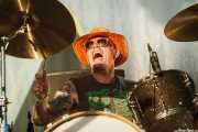 John Sherman, baterista de Red Fang, Azkena Rock Festival, Vitoria-Gasteiz. 2015