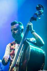 Al Gare, bajista, contrabajista y ukelele bass de Imelda May, BluesCazorla - Plaza de toros, Cazorla. 2015
