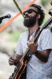 Fernando Polaino, guitarrista de Lichis, BluesCazorla - Plaza de toros, Cazorla. 2015