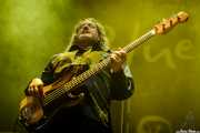 Phineas Sánchez, bajista de Edu Manazas & The Whiskey Tren, BluesCazorla - Plaza de toros, Cazorla. 2015