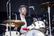 Michael Lowry, baterista (en giras) de Future Islands, Bilbao BBK Live, Bilbao. 2015