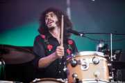 Chris St. Hilaire, cantante y baterista de The London Souls, Bilbao BBK Live, Bilbao. 2015