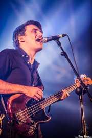 Ekhi Lopetegui, cantante y bajista de Delorean, Bilbao BBK Live, Bilbao. 2015