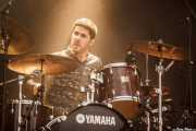 Jon Mikel García, baterista de Sinnerdolls, Mundaka Festival, Mundaka. 2015