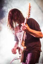 Aingeru Malaxetxebarria, guitarrista de Jesucrista, Aste Nagusia - Txosna Komantxe, Bilbao. 2015