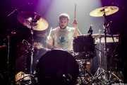 Pello Arza, baterista de Tooth, Kafe Antzokia, Bilbao. 2015