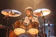 Álex Pérez, baterista de Toundra, Kafe Antzokia, Bilbao. 2015
