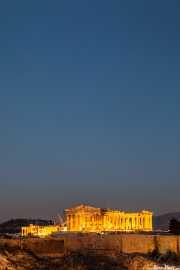 Vista de la Acrópolis de Atenas desde Lofos Filopappou (Filopapos) (17/09/2015)