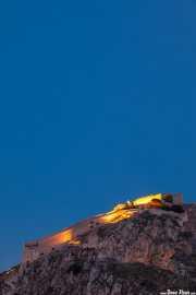 Fortaleza Palamidi (Giaxich y Lasalle, s.XVIII) iluminada al atardecer (19/09/2015)