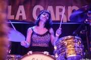Belinda Bono, baterista de Les Ton Ton Macoutes, Funtastic Dracula Carnival, Benidorm. 2015
