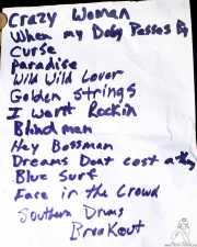 Setlist de Flat Duo Jets, Funtastic Dracula Carnival, Benidorm. 2015