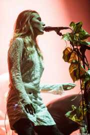 "Eleanor ""Ellie"" Fletcher, cantante de Crystal Fighters, BIME festival, Barakaldo. 2015"