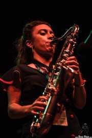 Chloe Feoranzo, clarinetista y saxofonista de Pokey LaFarge, BIME festival, Barakaldo. 2015